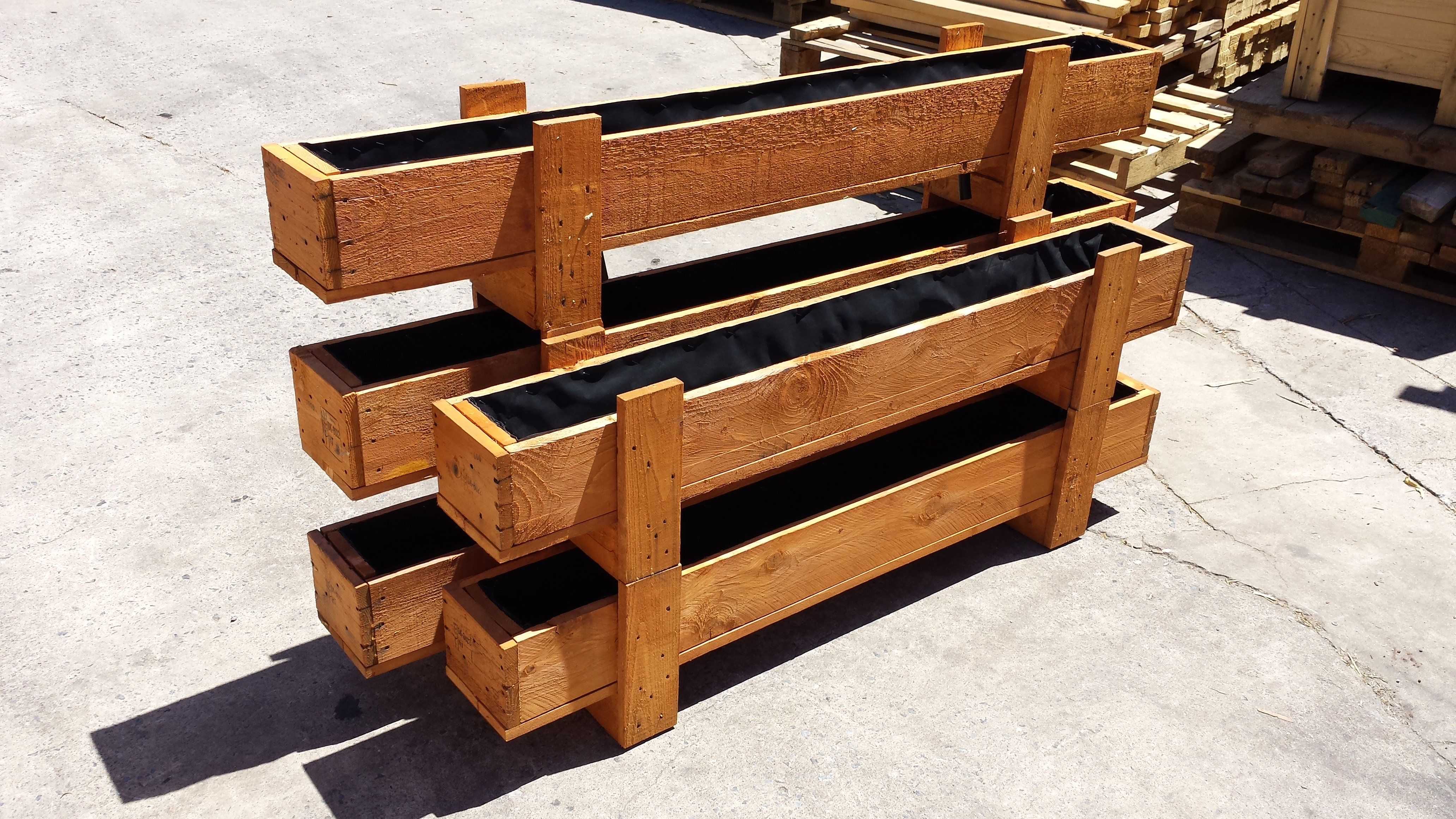 Recycled Transport Crate Planters