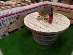 Half Wine Barrel Table Coffee Table