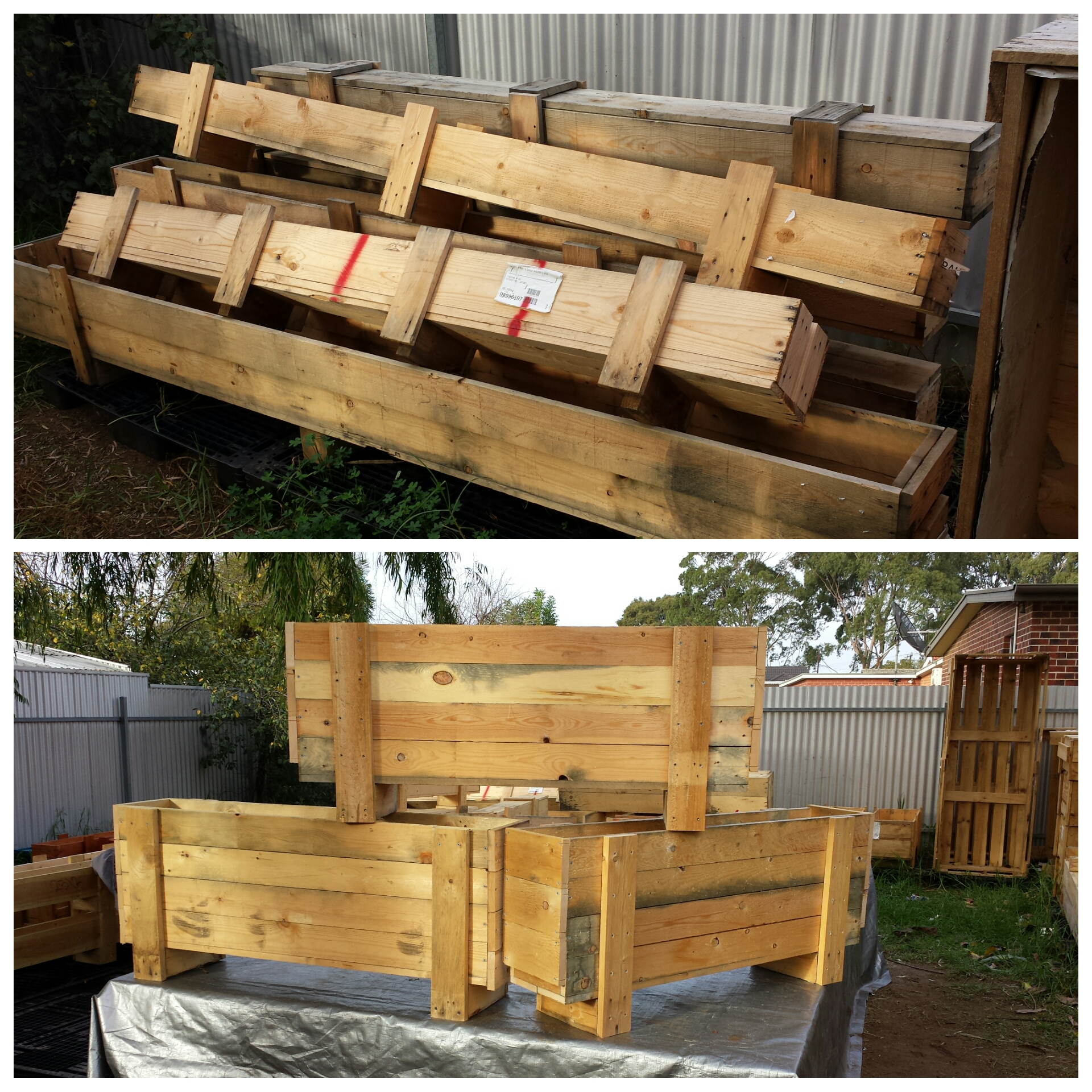Recycled Crate Planters