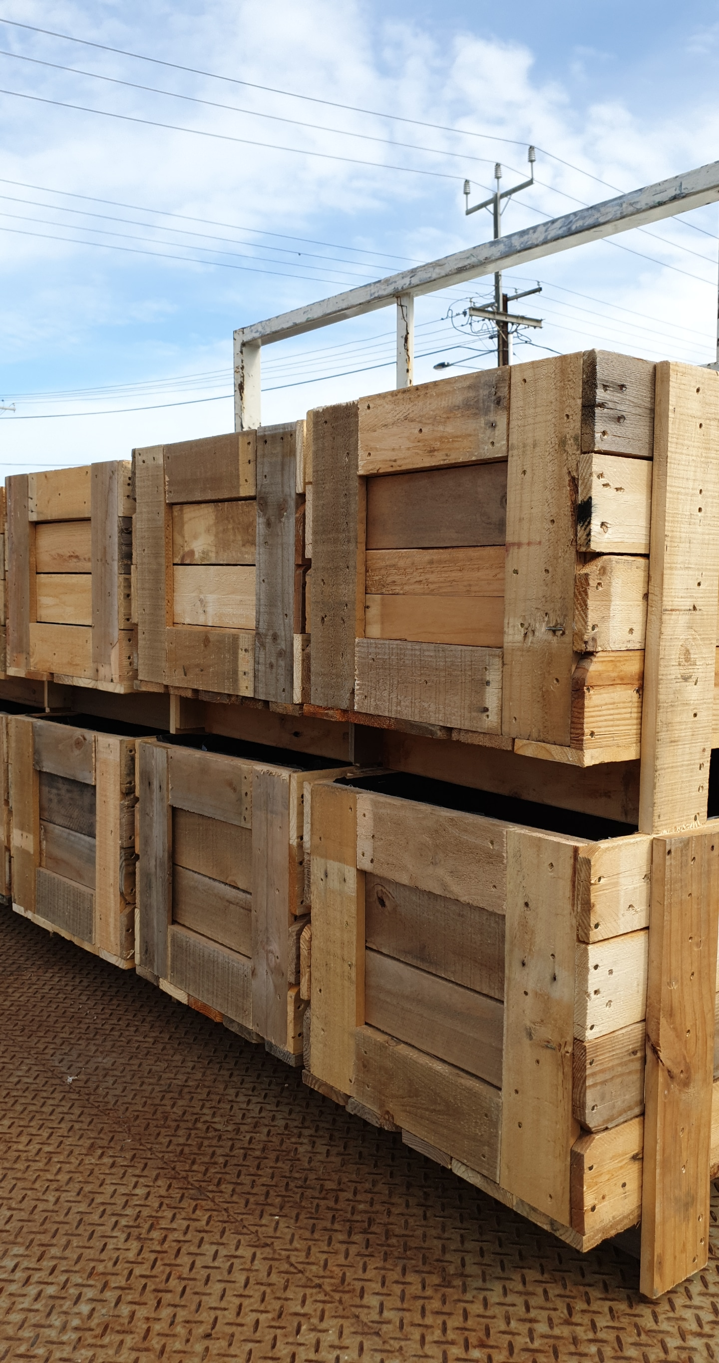 Recycled Custom Size Timber Crates