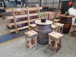 Wine Barrel Tables
