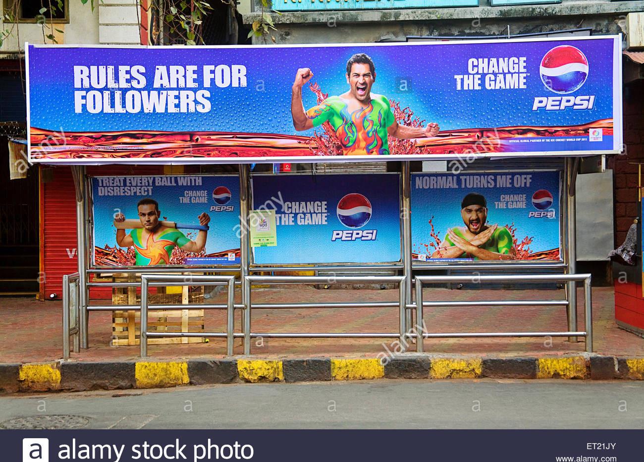 pepsi-advertising-hoarding-on-bus-stop-m