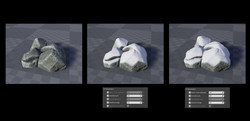 Snow Covered Rock Shader
