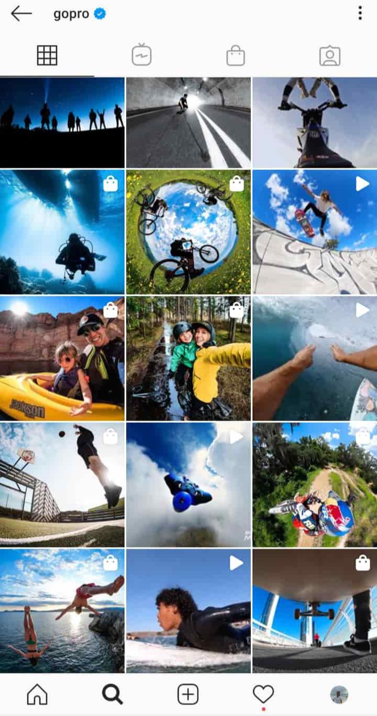 GoPro Instagram page