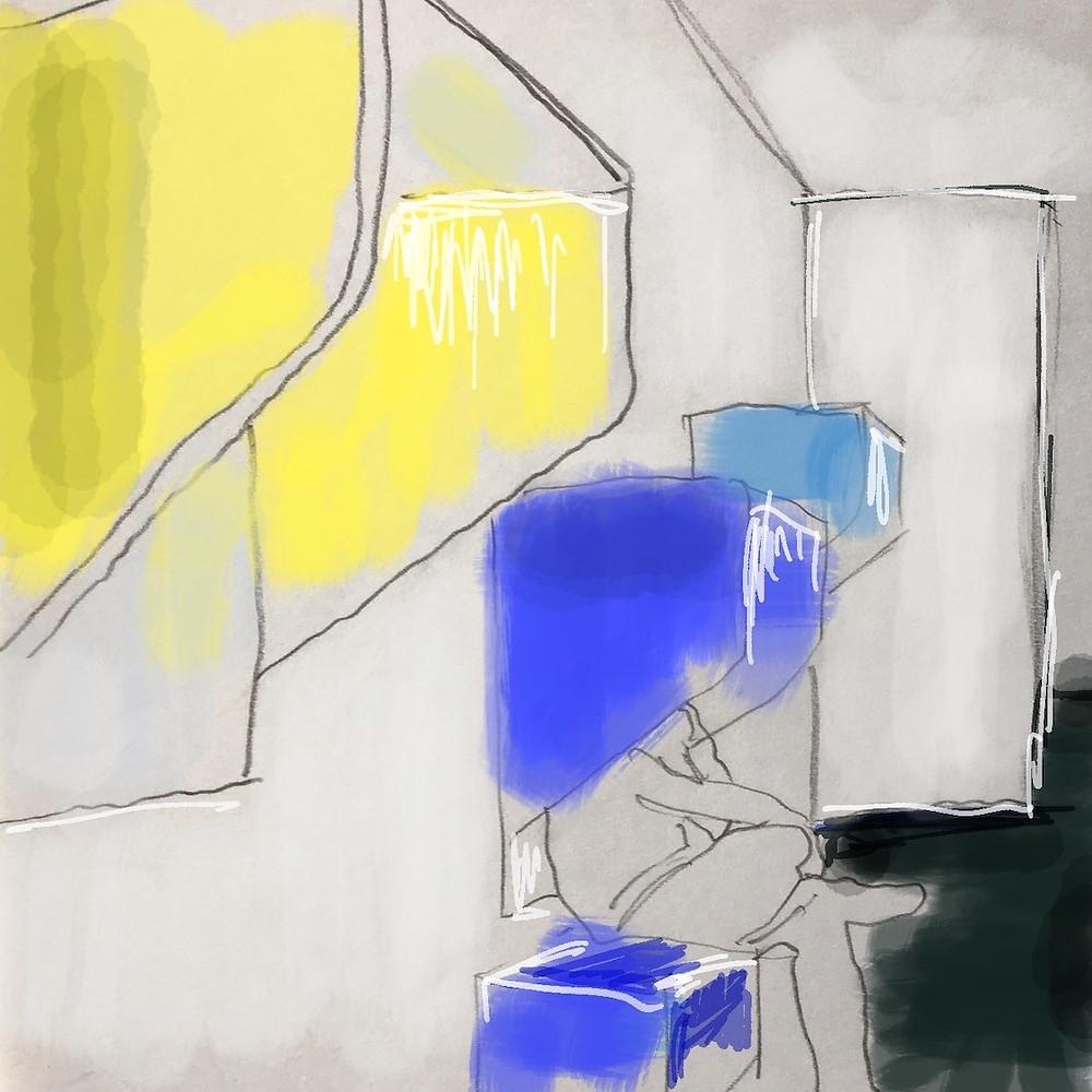 Telefon Nische - Farbkonzept - Farbberatung - Interiordesign