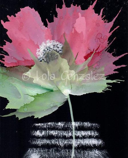 Flower beauty with mason jar Print