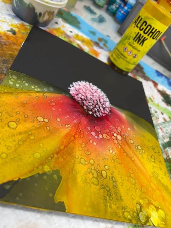 Alcohol Ink Flower