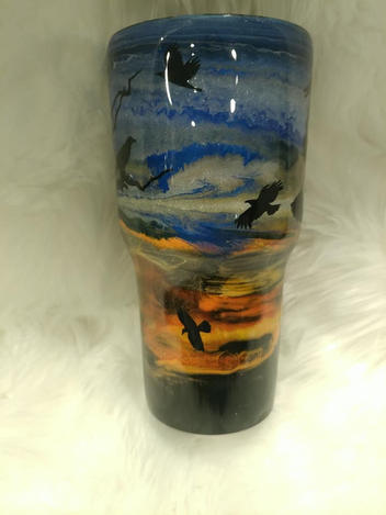alcohol ink tumbler