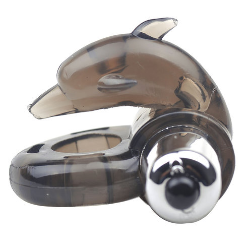 Black Dolphin Cock Ring