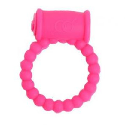 Pearls Vibrating Cock Ring (Pink)