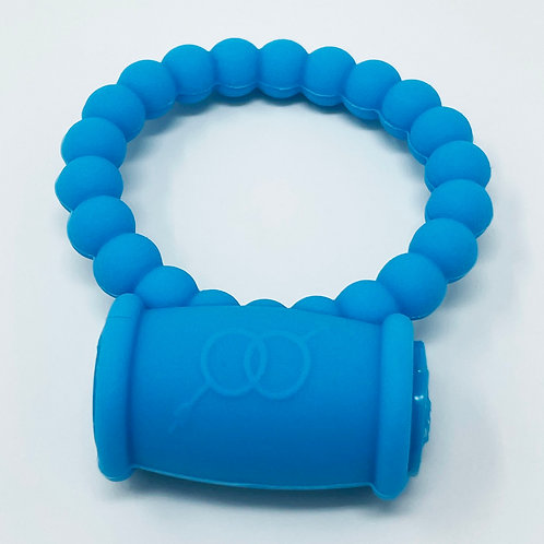 Pearls Vibrating Cock Ring (Blue)
