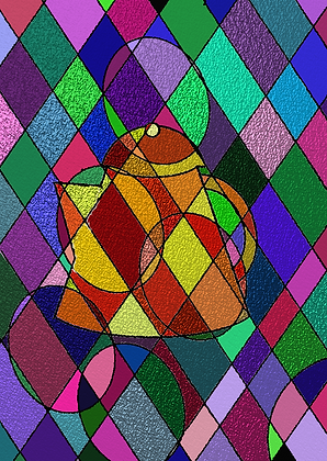 Stained Glass Pitcher