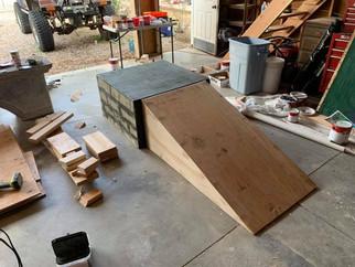 Titania's ramp under construction