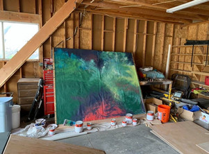 Sarah Schulz's beautiful backgrounds mid-completion