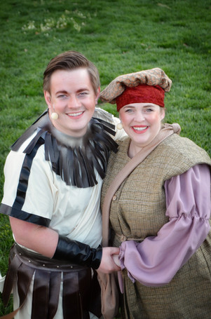 Brennan Walters as Lysander and Marissa Walters as Peter Quince
