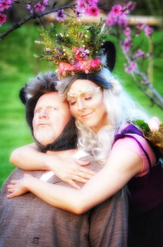 Lori Olsen as Titania and David Love as Bottom