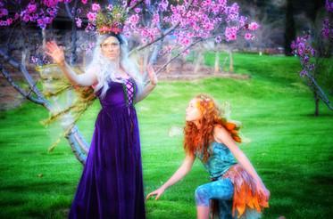 Lori Olsen as Titania and Bridget Layton as Mote