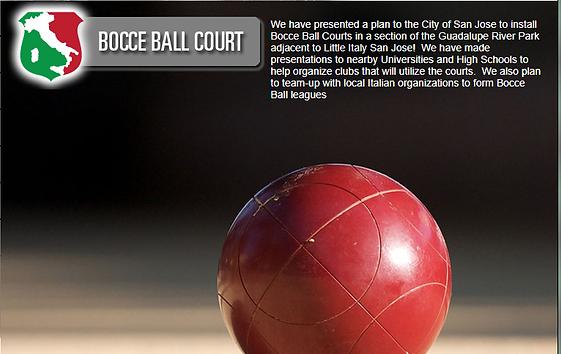 <image: Bocce Ball San Jose><image: Little italy San Jose>