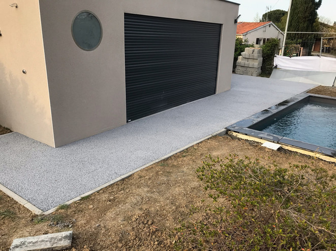 Sol en beton drainant