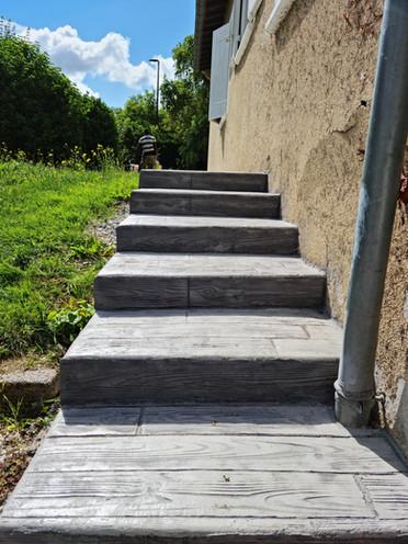 Escalier en béton imprimé