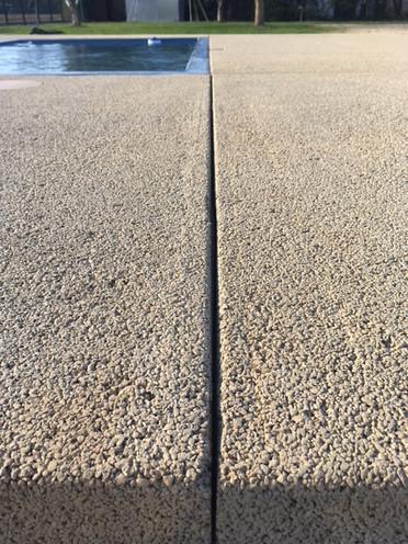 Zoom sur du beton drainant