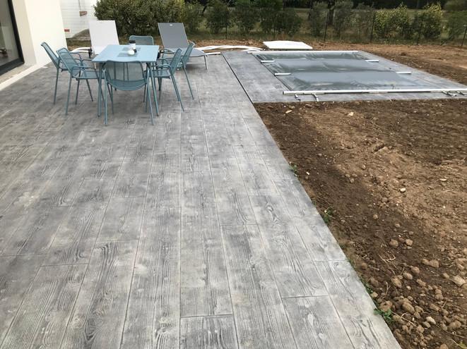 Terrasse impression bois