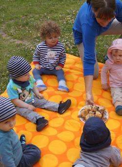 Picknick im Garten