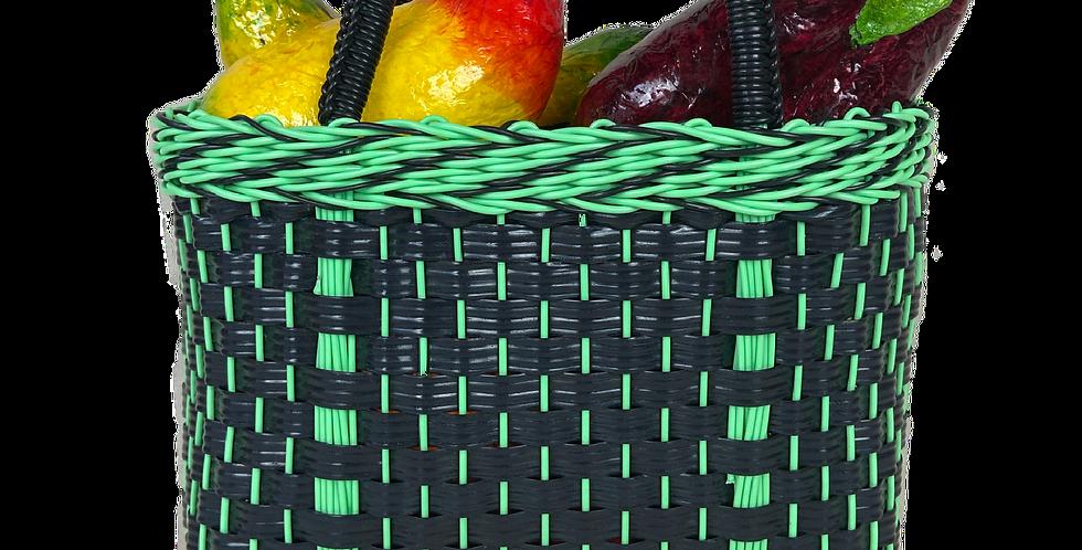 The Mini Mercadita - Plastic Woven Basket Bag