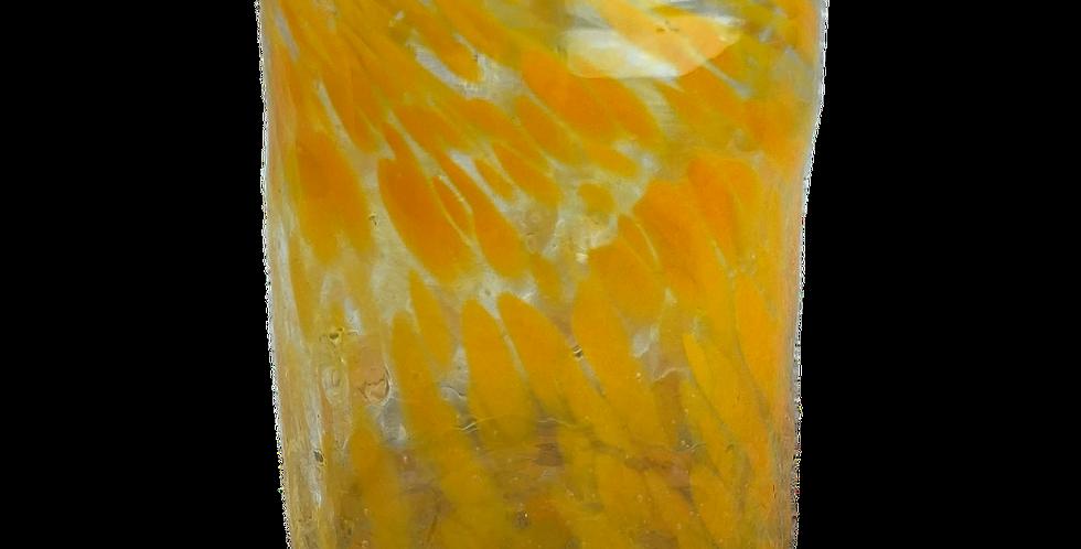 Handblown Glass Tumbler - Orange