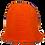 Thumbnail: Hand Crocheted Wool Hat - Orange