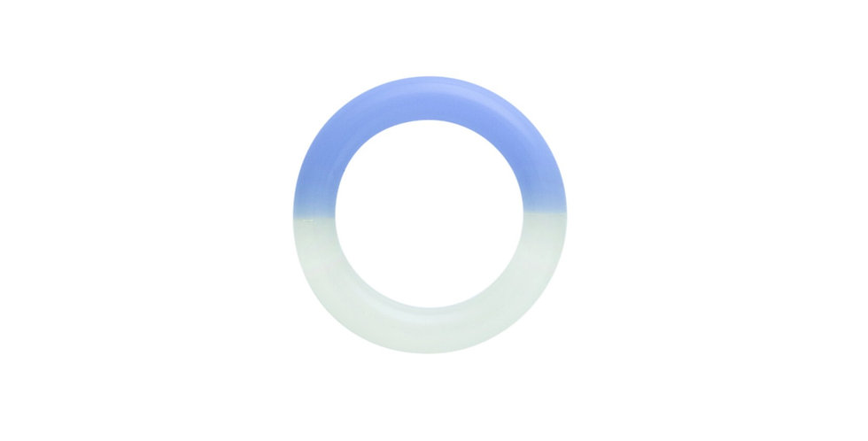 Blue two-tone glass ring - KEANE NY