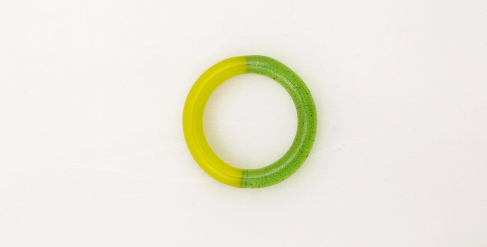 Green two-tone glass ring - KEANE NY