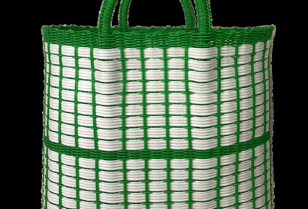 Plastic Woven Basket Bag - Large