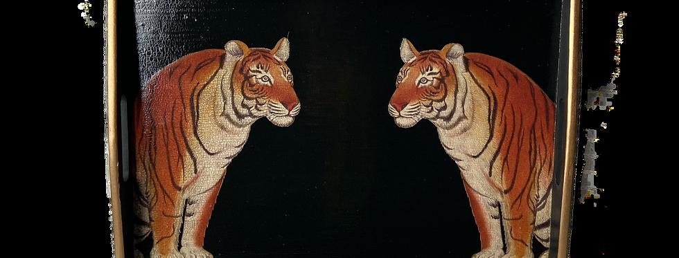 Tiger Tiger - Hand Decoupaged Vintage Tray