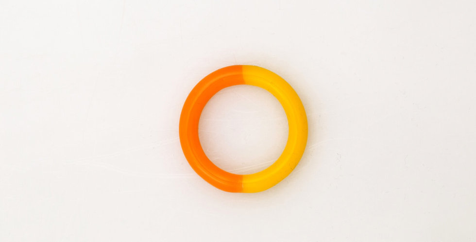 Pop Orange two-tone glass ring - KEANE NY