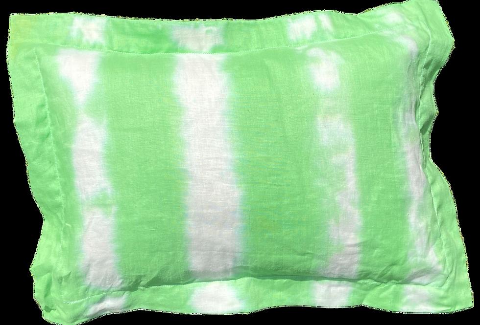 Green Stripe - Travel Sized Kapok and Lavender Pillows (46x32cm)