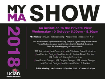 MA Degree Show at UCLan