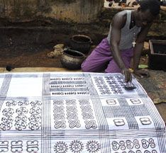 Printing of Adinkra cloth