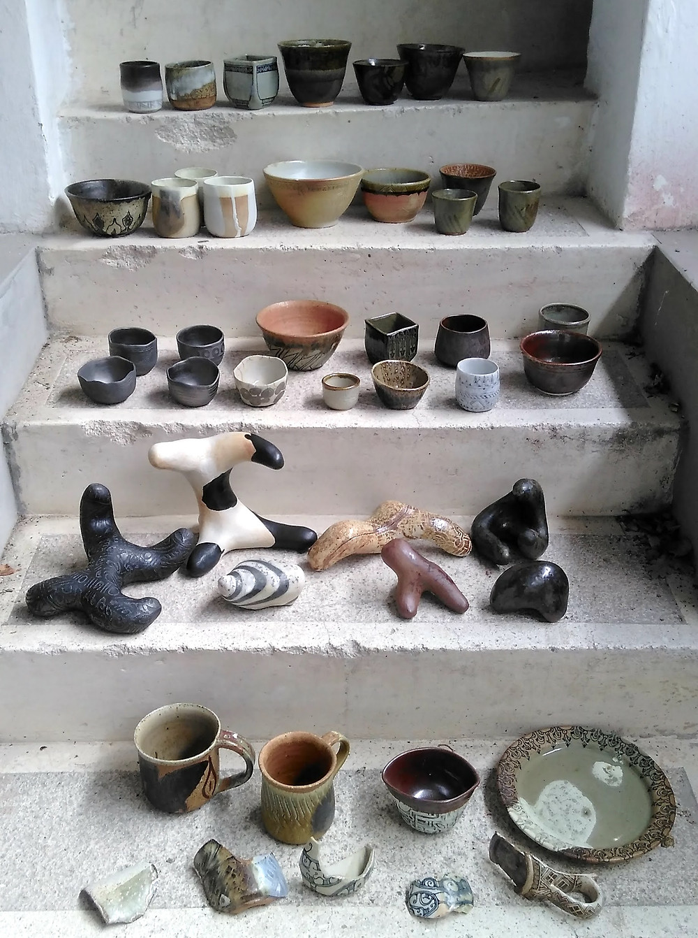 This is my pottery output during this time (7 are missing)