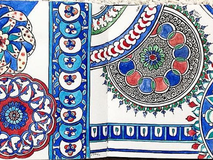 Researching patterns: Iznik ceramics