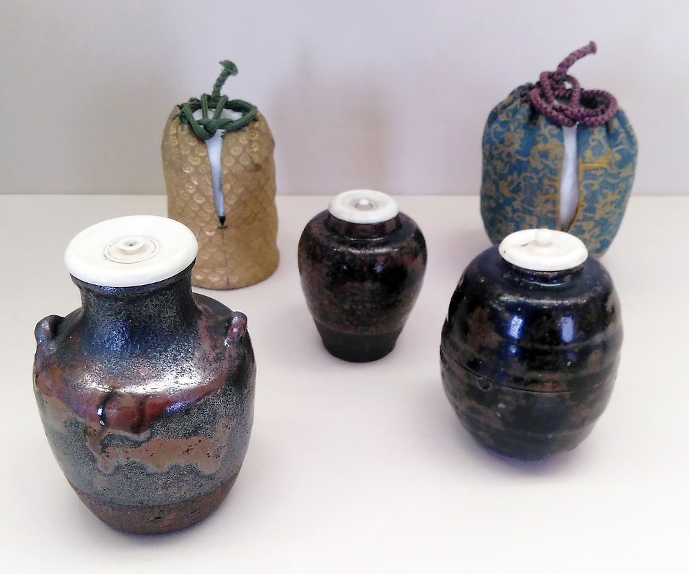 Three jars from Seto period, 16th-17th c.