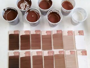 Glaze components: Line blend Tests