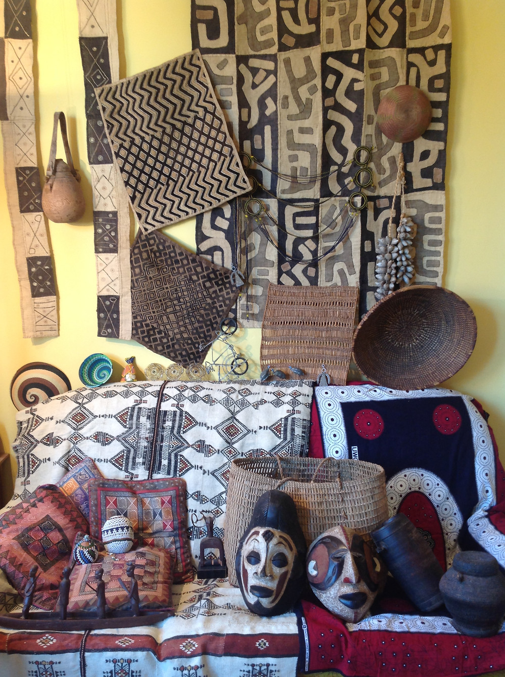 Some of the African made items I have at home