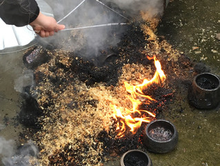 Another seasonal Raku firing session