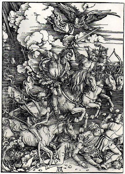 Durer: Four Horsemen of the Apocalypse, 1498