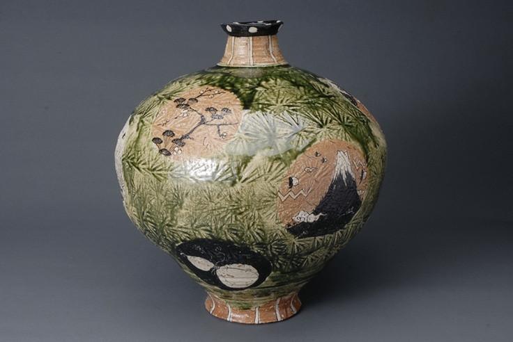 Shogo Ikeda vase with Mt