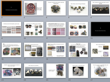 Group Crit: presenting this term's work