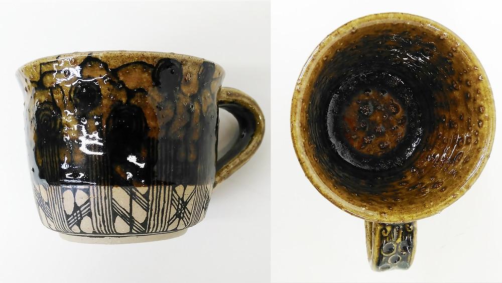Glaze bubbles badly on this mug