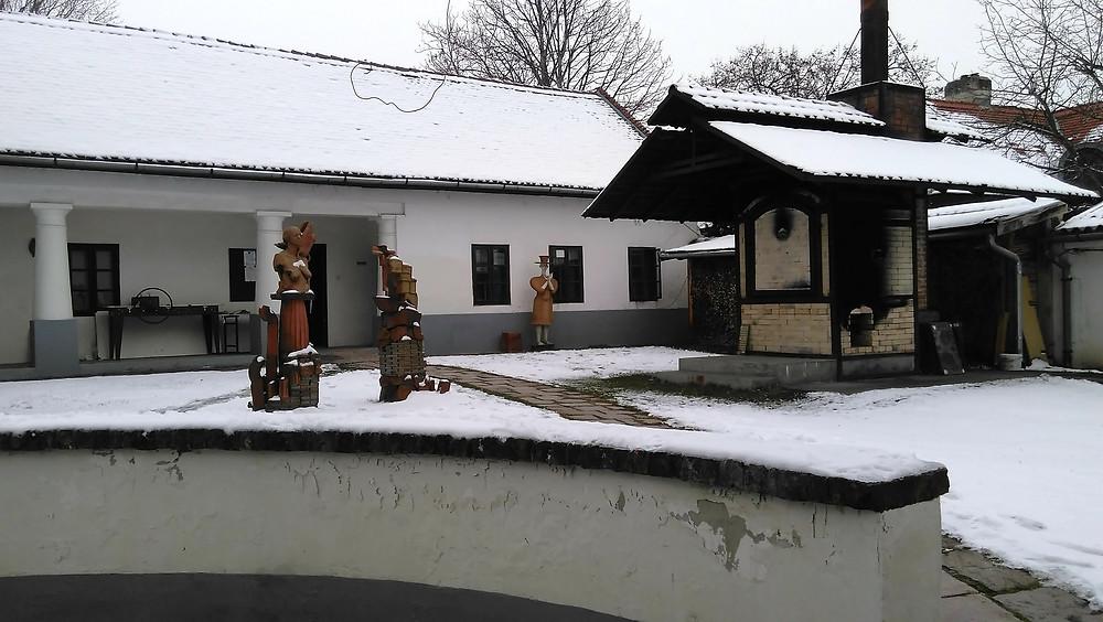 Arriving at ICS in Kecskemet in snow