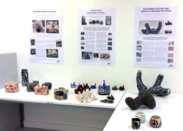 Three of the ceramics MAs